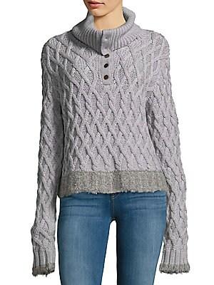Woven Merino Wool Sweater