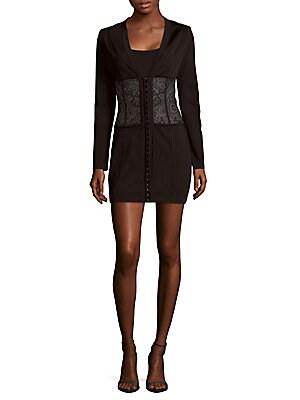 Long Sleeve Paneled Bodycon Dress