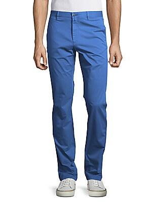 Solid Cotton-Blend Pants