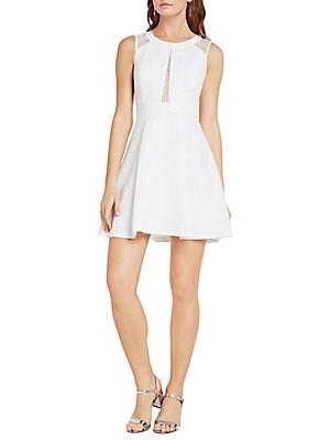 Lace-Trimmed Fit-&-Flare Dress