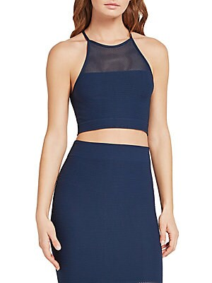Click here for Mesh Halter Cropped Top prices