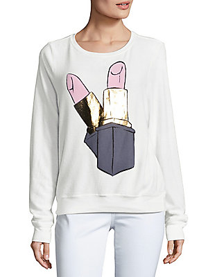 Lipstick Graphic Sweatshirt