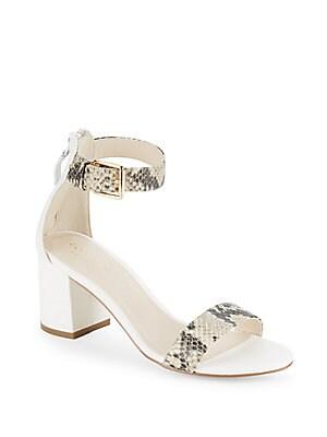 Clarette Python-Embossed Sandals