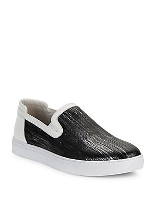 Embossed Leather Sneakers