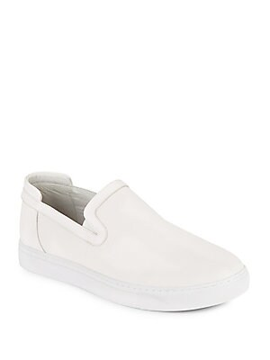 Grant Textured Leather Slip-On Sneakers