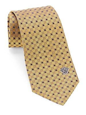 Contrast-Hue Silk Tie