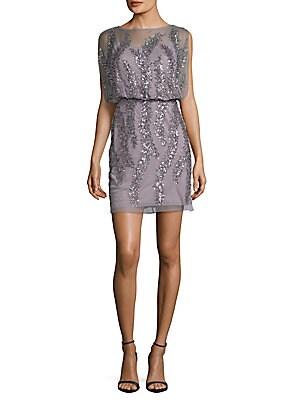 Bead Embellished Sleeveless Dress