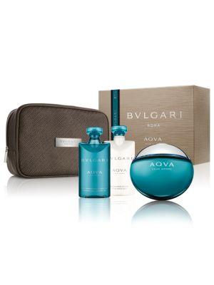 Aqva Pour Homme Collection Pouch Set- 138.00 Value BVLGARI
