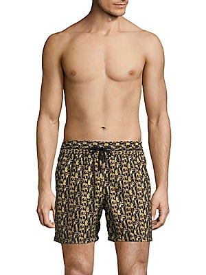 Jungle Cat-Print Swim Shorts