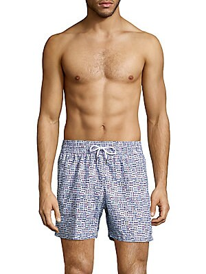 Glasses Printed Swim Shorts
