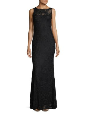 SLEEK LACE GOWN