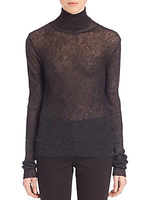 Sheer Turtleneck Sweater