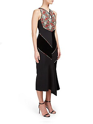 Printed Sleeveless Asymmetric Dress