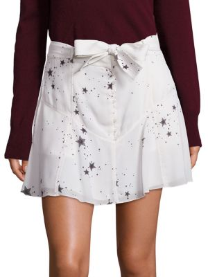 Star Print Silk Skirt A.L.C.