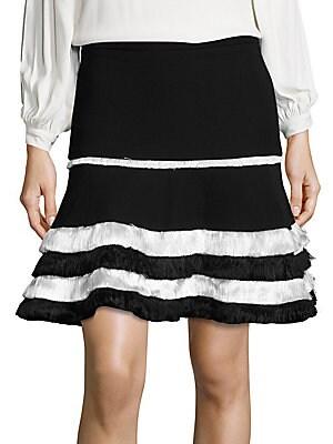 Tanya Fringe Ruffle Tiered Skirt