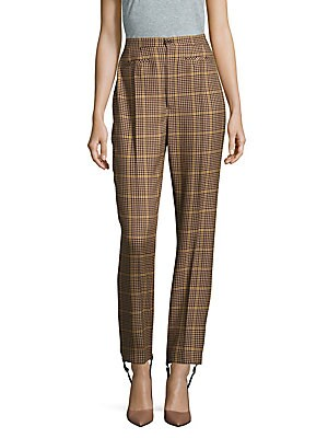 Plaid Four-Pocket Wool Pants