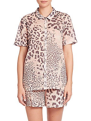 Exotic Animal Print Short Pajamas