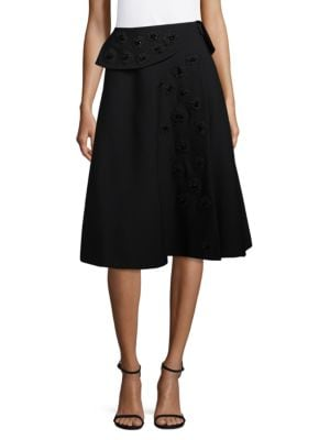 Stretch Twill Blend Knee-Length Skirt Christian Dior