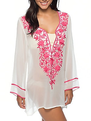 Stella Embroidered Cover-Up