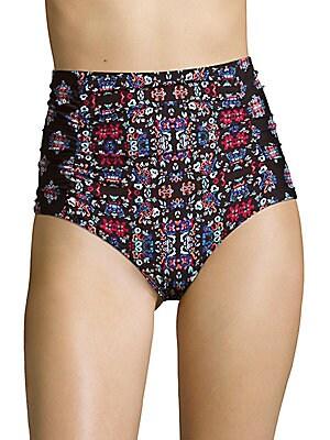 High-Rise Printed Bikini Bottom