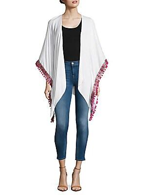 Open-Front Kimono-Sleeve Cape