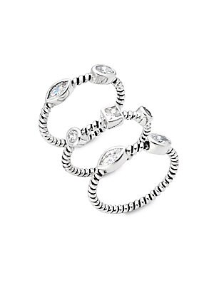 Studded Spiral Stackable Rings
