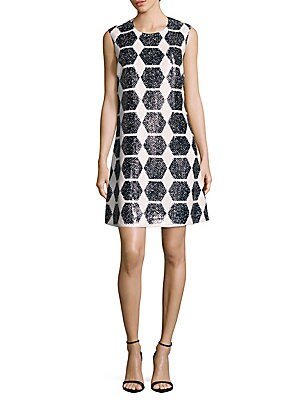 Geometric-Print Sleeveless Dress