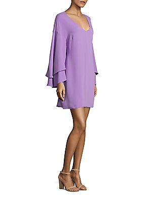 laundry by shelli segal female bell sleeve shift dress