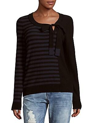 Long-Sleeve Virgin Wool & Cashmere-Blend Sweater