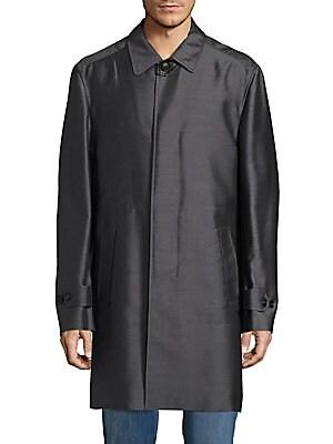Silk-Blend Trench Coat