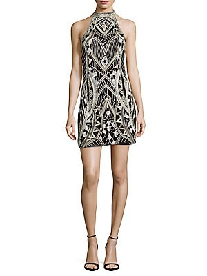 Pasclina Sequined Sheath Dress
