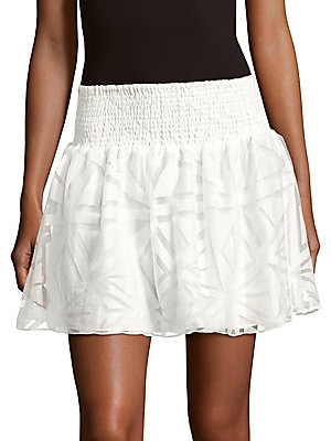 Daphne Cotton-Blend Lace Skirt