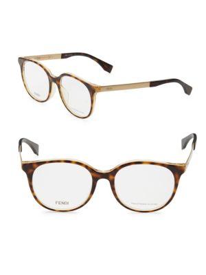FENDI 47Mm Cat'S Eye Optical Glasses in Brown