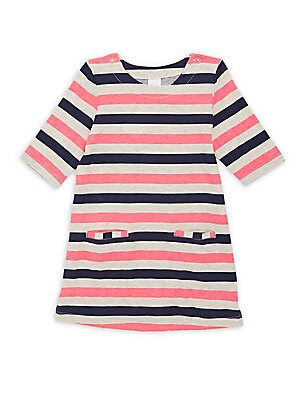 Little Girl's Striped Cotton A-Line Dress