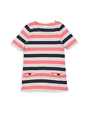 Baby's Striped Cotton A-Line Dress