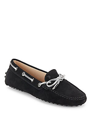 tods female slipon leather driving shoes