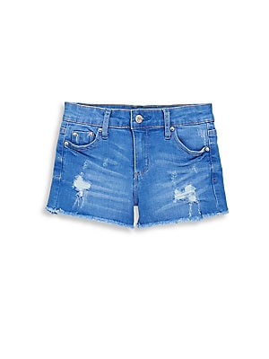 Girl's Distressed Denim Shorts
