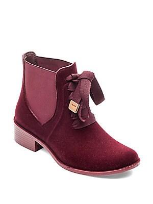 Lacey Velvet Rain Boots