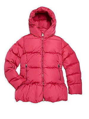 Girl's Hooded Down Puffer Jacket