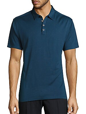 Solid Silk-Blend Polo