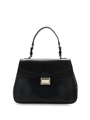 Embellished Saffiano Handbag