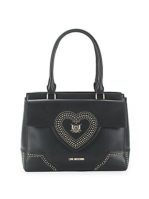 Studded Heart Handbag