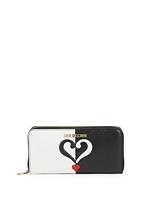 Colorblock Quilted-Heart Wallet