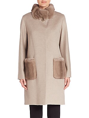 Mink Fur & Wool Coat
