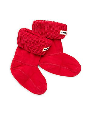Girl's Knit-Cuff Boot Socks