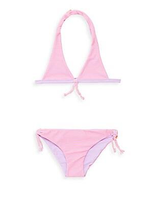 Girl's Reversible Halter Swimsuit
