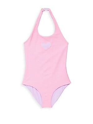 Little Girl's & Girl's Reversible Halterneck Swimsuit