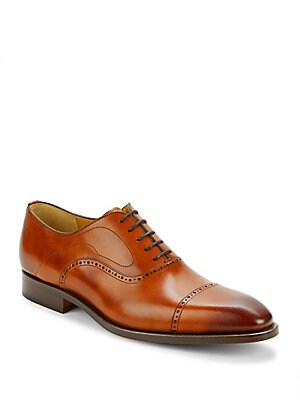 Cap Toe Leather Oxford Shoes