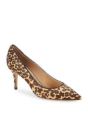 Leopard-Print Fur Pumps