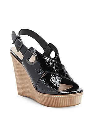 Penelope Crinkled Wedge Sandals